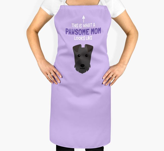 'Pawsome Mom' Apron with Lakeland Terrier Icon