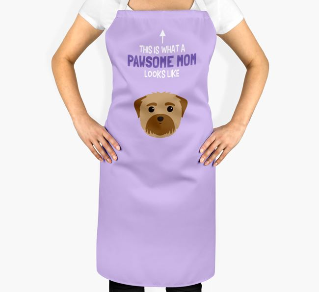 'Pawsome Mom' Apron with Maltese Icon