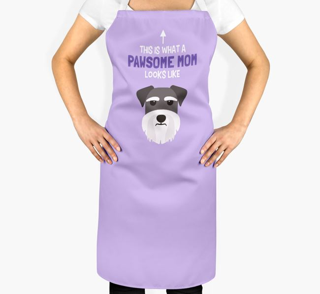 'Pawsome Mom' Apron with Dog Icon