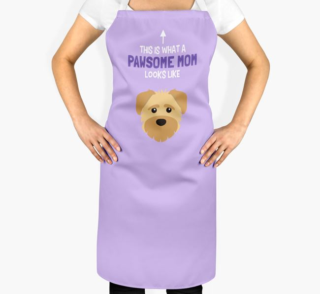 'Pawsome Mom' Apron with Schnoodle Icon