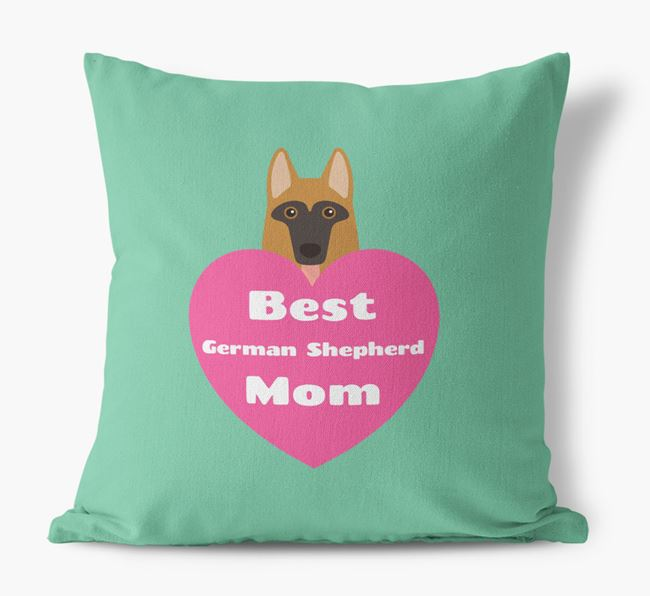'Best Dog Mom' Cushion with Dog Icon