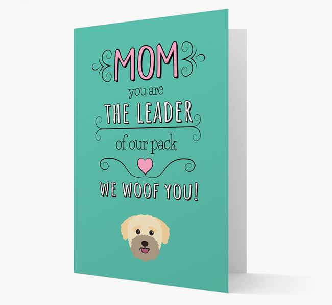 'The Leader Of Our Pack' Card with your Bichon Yorkie Icon