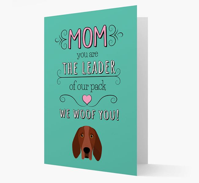 'The Leader Of Our Pack' Card with your Bracco Italiano Icon