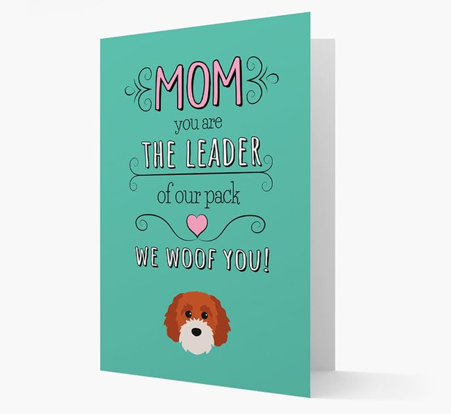 'The Leader Of Our Pack' Card with your Cavapoochon Icon