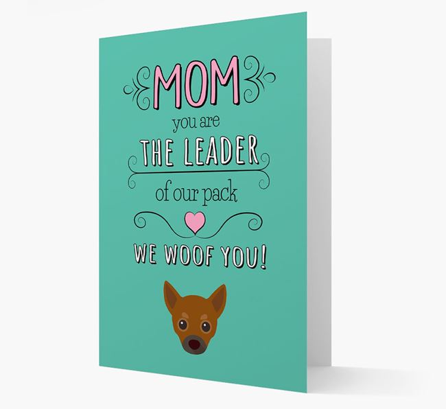'The Leader Of Our Pack' Card with your Chihuahua Icon
