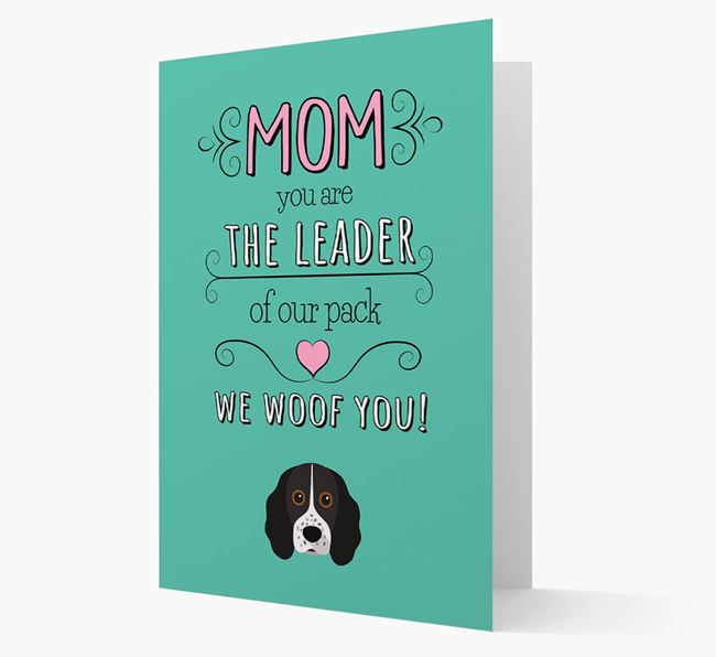 'The Leader Of Our Pack' Card with your Cocker Spaniel Icon
