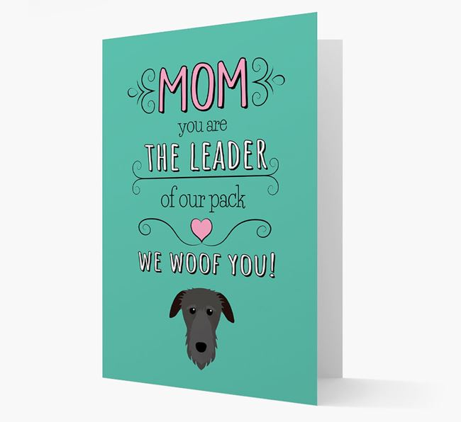 'The Leader Of Our Pack' Card with your Deerhound Icon