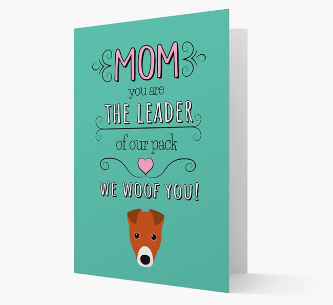 'The Leader Of Our Pack' Card with your Fox Terrier Icon