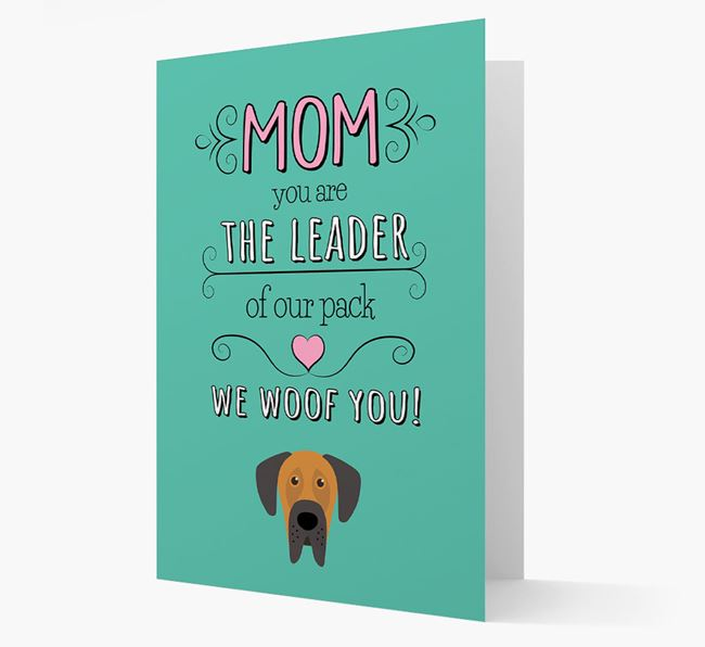 'The Leader Of Our Pack' Card with your Dog Icon