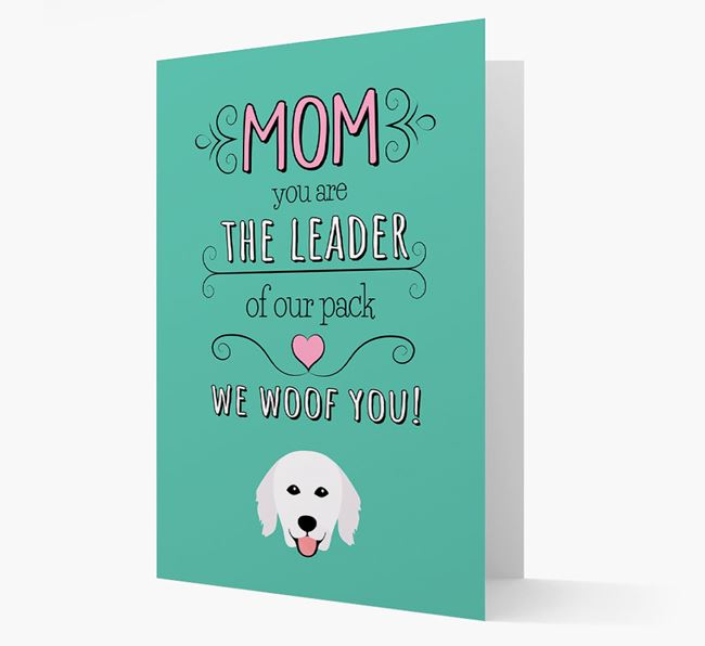 'The Leader Of Our Pack' Card with your Hungarian Kuvasz Icon