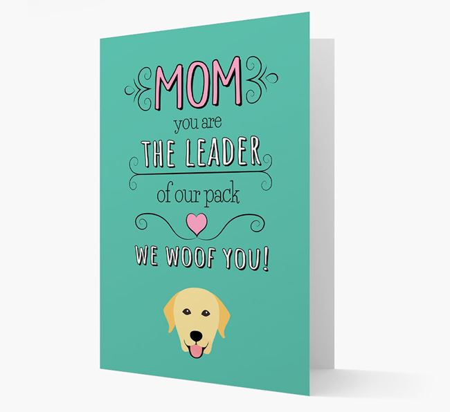 'The Leader Of Our Pack' Card with your Labrador Retriever Icon
