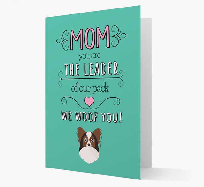 'The Leader Of Our Pack' Card with your Papillon Icon