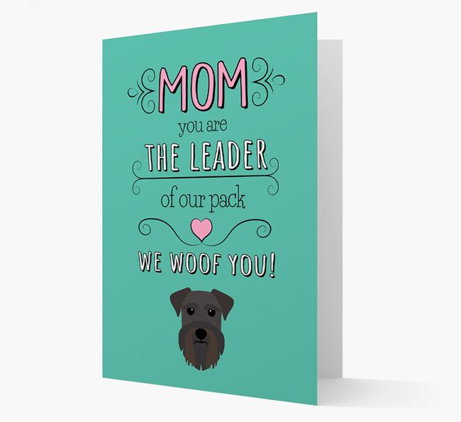 'The Leader Of Our Pack' Card with your Schnauzer Icon
