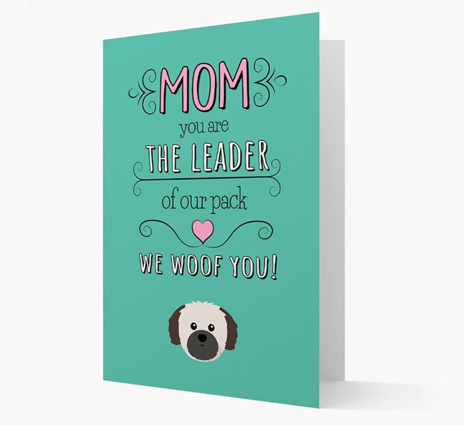 'The Leader Of Our Pack' Card with your Shih Tzu Icon