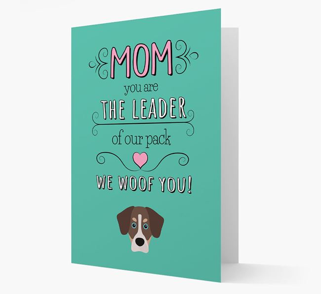 'The Leader Of Our Pack' Card with your Siberian Cocker Icon