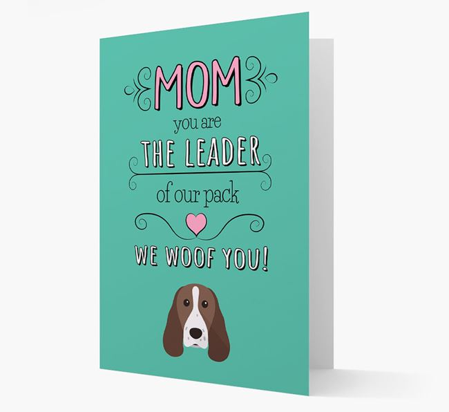 'The Leader Of Our Pack' Card with your Welsh Springer Spaniel Icon