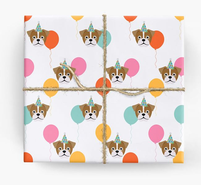 Birthday Balloon Wrapping Paper with Jug Icons