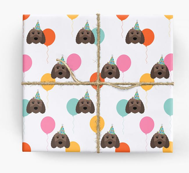 Birthday Balloon Wrapping Paper with Sproodle Icons