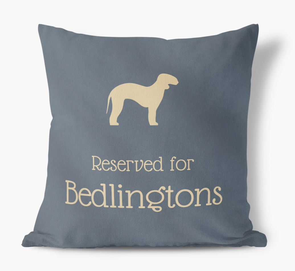 Reserved For Bedlington Terriers Faux Suede Cushion