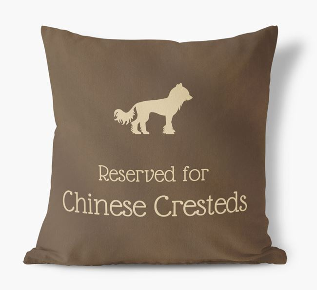 Reserved For Chinese Cresteds Faux Suede Cushion