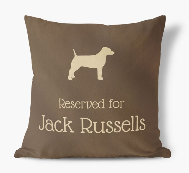 Reserved For Dogs Faux Suede Cushion