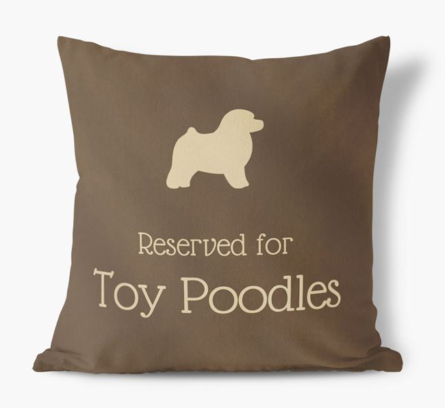 Reserved For Toy Poodles Faux Suede Cushion