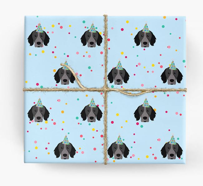 Birthday Confetti Wrapping Paper with Brittany Icons