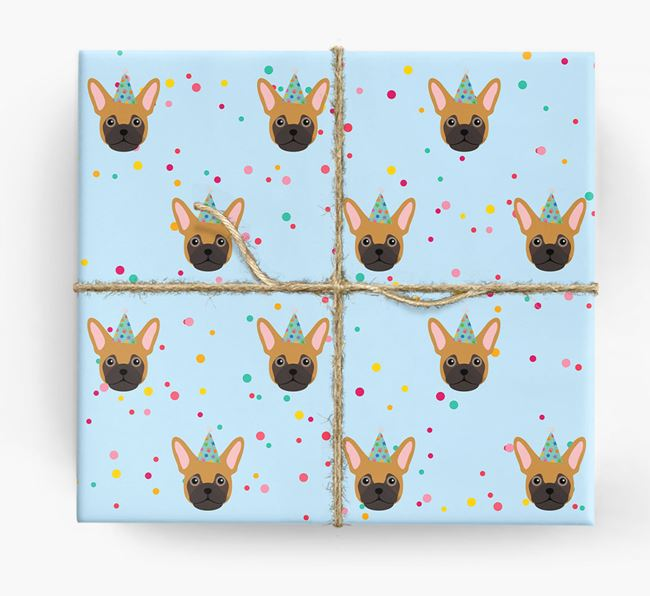 Birthday Confetti Wrapping Paper with Frug Icons