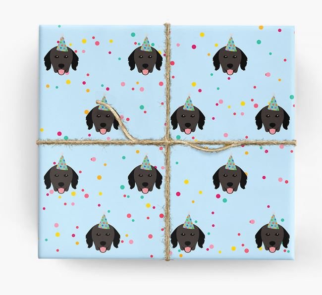 Birthday Confetti Wrapping Paper with Hovawart Icons