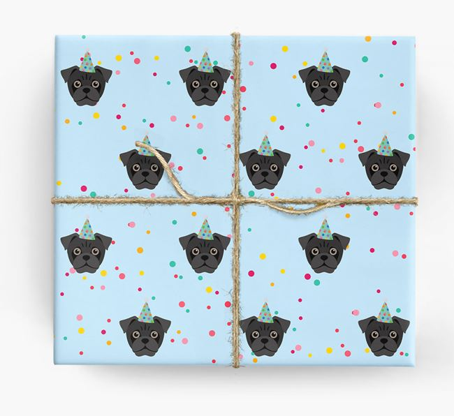Birthday Confetti Wrapping Paper with Jug Icons