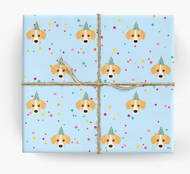 Birthday Confetti Wrapping Paper with Kokoni Icons