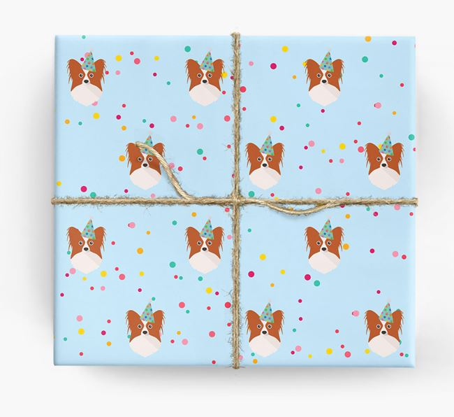 Birthday Confetti Wrapping Paper with Papillon Icons