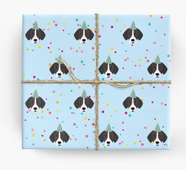 Birthday Confetti Wrapping Paper with Pointer Icons