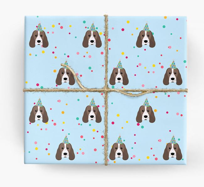 Birthday Confetti Wrapping Paper with Sprocker Icons