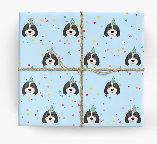 Birthday Confetti Wrapping Paper with Sproodle Icons