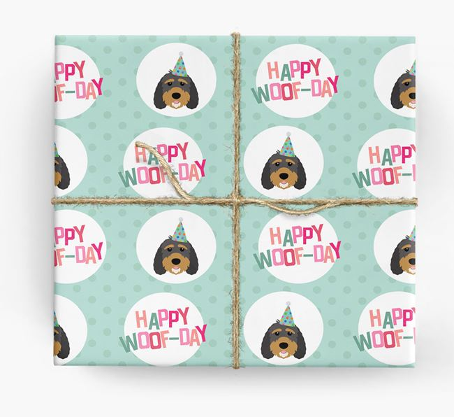 'Happy Woof-day' Wrapping Paper with Sproodle Icons