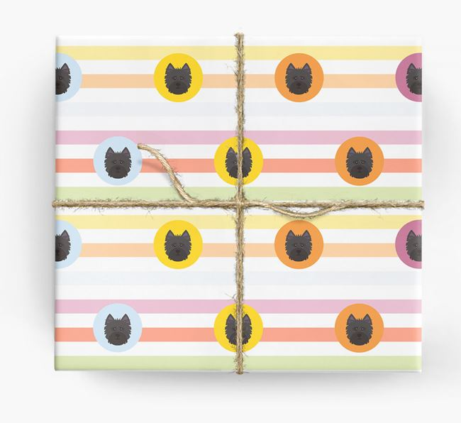 Colourful Wrapping Paper with Cairn Terrier Icons