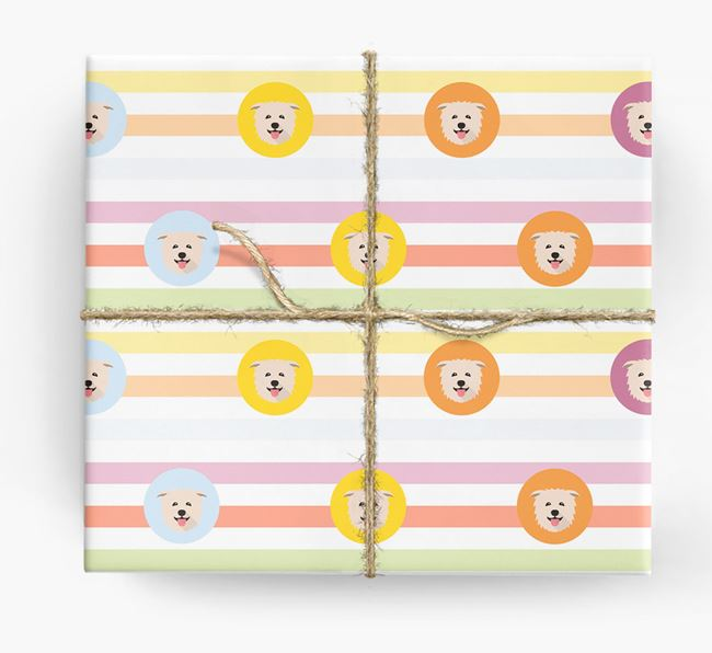 Colourful Wrapping Paper with Glen Of Imaal Terrier Icons