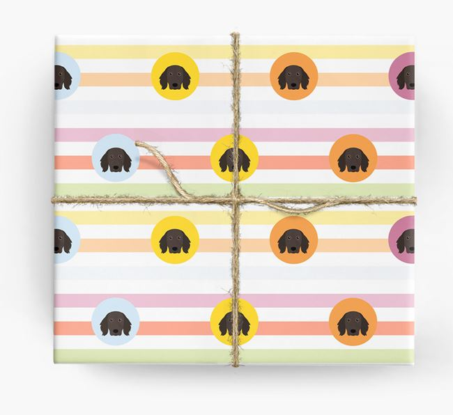 Colourful Wrapping Paper with Large Munsterlander Icons