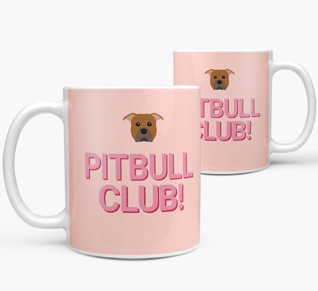 'Pitbull Club!' Mug with American Pit Bull Terrier Yappicon