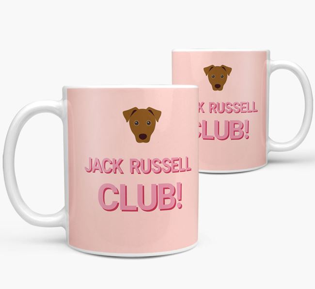 'Jack Russell Club!' Mug with Jack Russell Terrier Yappicon