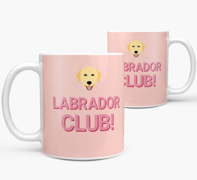 'Labrador Club!' Mug with Labrador Retriever Yappicon