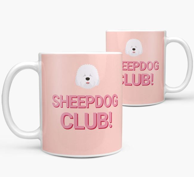 'Sheepdog Club!' Mug with Old English Sheepdog Yappicon