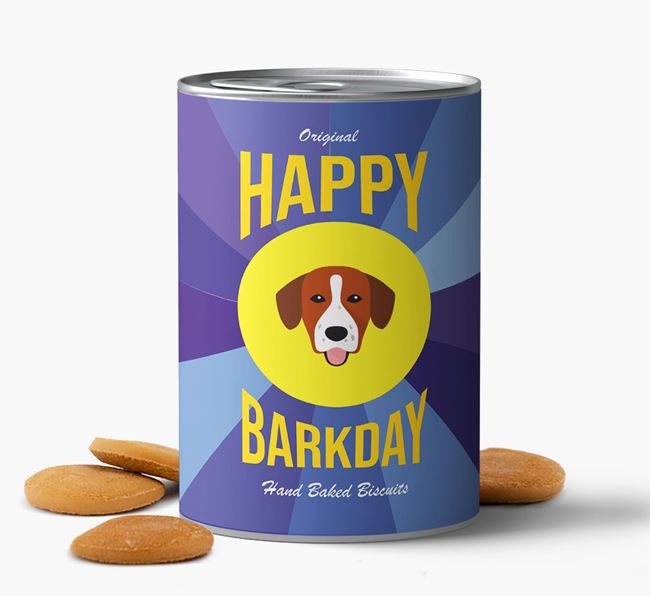 'Happy Barkday' Baked Dog Biscuits with Springador Icon