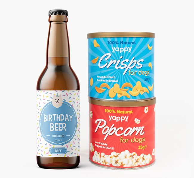Birthday Beer for your American Eskimo Dog
