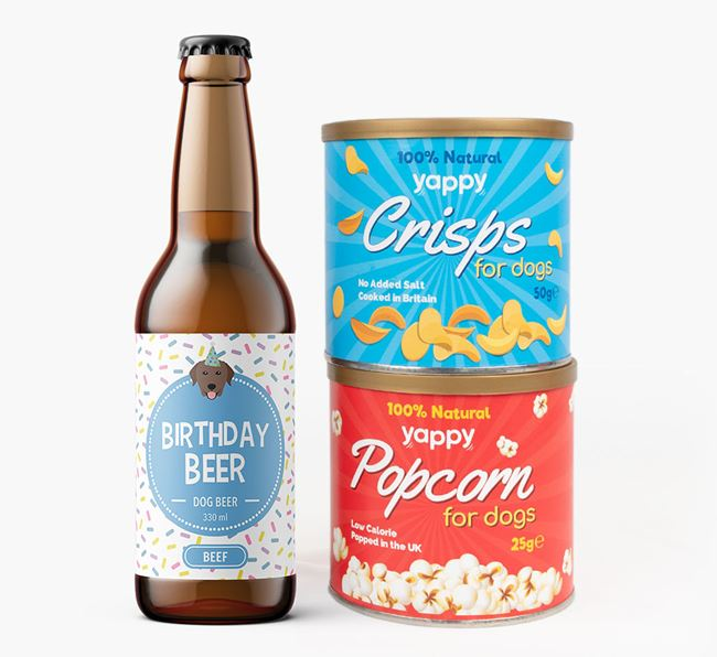 Birthday Beer for your Curly Coated Retriever
