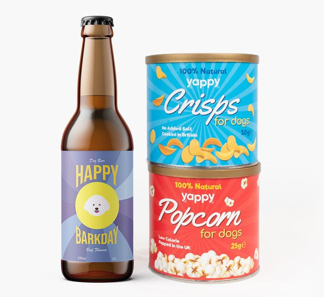'Happy Barkday' Bichon Frise Beer Bundle