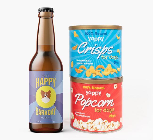 'Happy Barkday' Papillon Beer Bundle