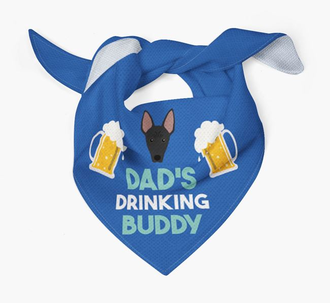 'Dad's Drinking Buddy' Bandana with American Hairless Terrier Icon