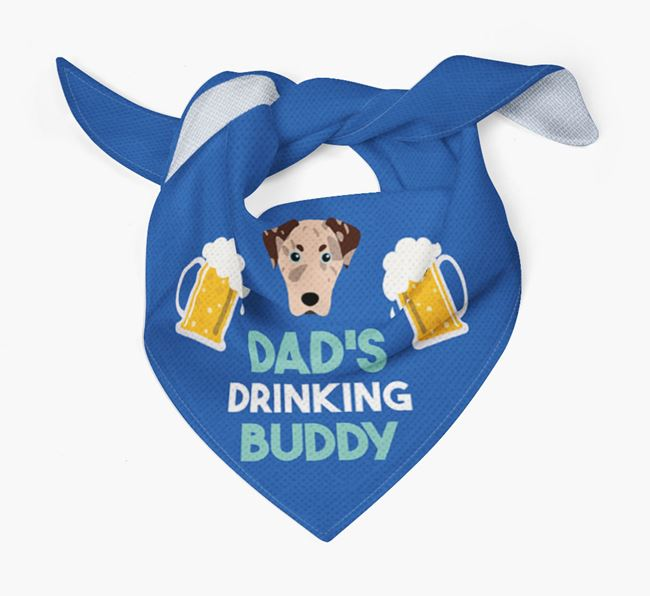 'Dad's Drinking Buddy' Bandana with American Leopard Hound Icon